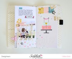 TN Tutorial Scrapbook Werkstatt - Maggie Holmes / Crate Paper `Carousel' - Ulrike Dold Project Life, Websters Pages, Travel Log, Travel Journals, Crate Paper, Travel Planner, Travelers Notebook, Happy Planner, Traveling By Yourself
