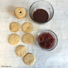 Baked Vanilla Cookies with Chocolate and Jam