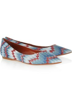Missoni Woven pointed flats - 49% Off Now at THE OUTNET