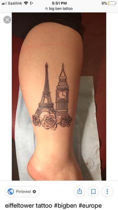 Bff Tattoos, Time Tattoos, Future Tattoos, Body Art Tattoos, Small Tattoos, Cool Tattoos, Tatoos, Paris Tattoo, London Tattoo