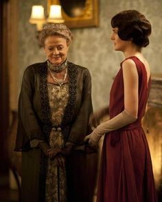 Aunt Violet and Lady Mary