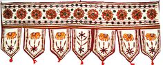 Home decorative hanging doors With Embroidered Door hanging Product Code :Peacock Door Hangings97 Welcome guests into your room with a gorgeous gujrati embroidered door hanging from India. The exquisite floral motifs gives a beautiful look $11