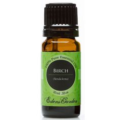 Especially effective for relieving sore muscles, Birch blends well into massage oil. Birch is a powerful analgesic, anti-inflammatory, antiseptic, anti-pryetic, anti-rheumatic, astringent, depurative, diuretic, and tonic.For centuries, North American native people have used Birch bark as a tonic beverage to stimulate the natural purification of the body through sweating. The flavoring was popular among early European settlers because of its ability to treat dysentery.