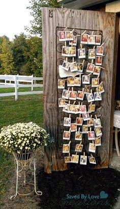 Gastenboek idee: polaroid foto maken + berichtje op schrijven = ophangen <3