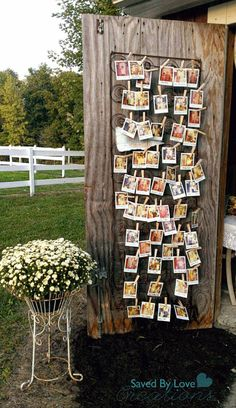 vintage-wedding-decor-with-polaroid-photo-display