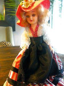 Vintage 1940s Marcie Doll Dolls of Many Lands France in original dome.    ebay.com