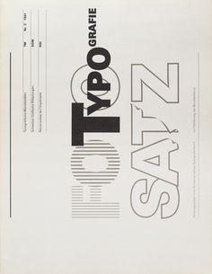 """garadinervi: """" TM RSI SGM 1981 Issue 2 Cover Design by Heinrich Fleischhacker / Univers / """""""