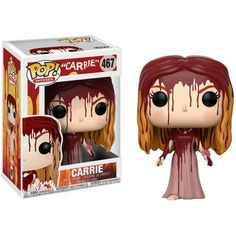 Movies: Horror - Carrie -- From Carrie, Carrie, as a stylized pop vinyl from Funko! Stylized collectable stands 3 ¾ inches tall, perfect for any Carrie fan! Collect and display all Carrie Pop! Pop Vinyl Figures, Captain Marvel, Marvel Dc, Geeks, Carrie Movie, Desenhos Tim Burton, Overwatch, Funko Pop Horror, Horror Pop Vinyl