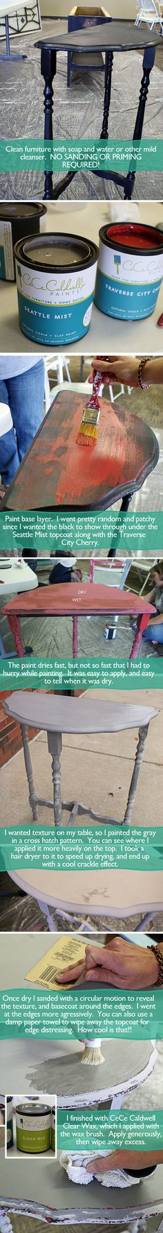 #CeceCaldwell Chalk and Clay Paint #DIY Table Makeover