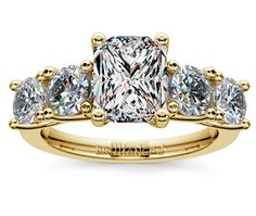 Radiant Trellis Five Diamond Engagement Ring in Yellow Gold  http://www.brilliance.com/engagement-rings/trellis-five-diamond-ring-yellow-gold-3/4-ctw