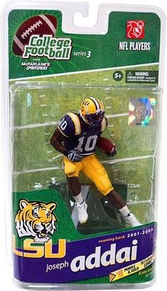 McFarlane Toys College Football Sports Picks Series 3 Joseph Addai Action Figure [Purple Jersey] /500