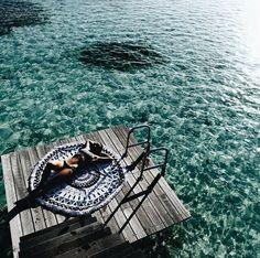 Enjoy at beach with boho star mandala indian beach roundies buy now @handicrunch