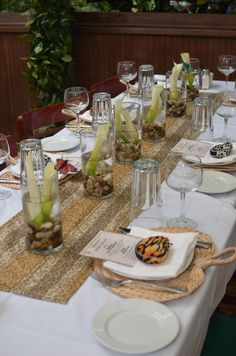 Photo 1 of Jungle Safari / Bridal/Wedding Like the table runner, flowers are a bit of a poor showing but idea is interesting Safari Wedding, Safari Party, Jungle Safari, Jungle Theme, Lion King Wedding, Shower Party, Bridal Shower, Vintage Safari, Tropical Party