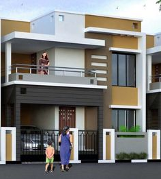 40 Best Ideas For House Facade Classic Balconies House Arch Design, 3 Storey House Design, Bungalow House Design, Small House Design, Modern Exterior House Designs, Latest House Designs, Modern House Plans, Small House Plans, Indian House Plans