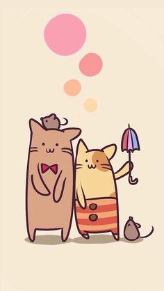 Cat Mouse, Typography Inspiration, Wallpaper Backgrounds, Wallpapers, Cat Art, Pikachu, Kawaii, Cool Stuff, Comics