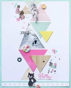 #papercraft #scrapbook #layout.  LORA BAILORA : Inspirate con Mariví - Layout TU y YO