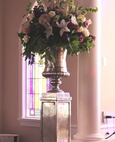 Make a long lasting impression with rentals/flowers from A1! www.a1wedding.com 903-463-7709 Urn, Wedding Flowers, Glass Vase, Thing 1, Denison Texas, Floral, Plants, Pedestal, Home Decor