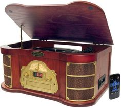 Pyle Home PTCDS1U Classical Turntable with AM/FM Radio CD/Cassette and USB Recording by Pyle,