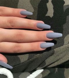 22 Unbiased Report Exposes The Unanswered Questions On Nail Inspo Coffin Long - Acrylic Nails Coffin - Aycrlic Nails, Cute Nails, Pretty Nails, Manicures, Fancy Nails, Glitter Nails, Matte Acrylic Nails, Acrylic Nail Designs, Matte Gray Nails