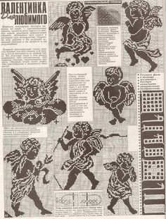 "Photo from album ""Дуплет on Yandex. Crochet Angel Pattern, Crochet Angels, Crochet Patterns, Russian Crochet, Filet Crochet Charts, Cross Stitch Angels, Crochet Magazine, Monochrome, Needlepoint"