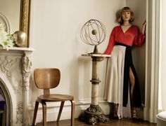 """""""Blumarine spring summer 2016 advertising campaign. Taking inspiration from the cinematic world of yesterday, model Lou Schoof embodies a collection that…"""""""