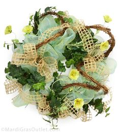 Video Tutorial: Twig-Works deco mesh wreath for Spring