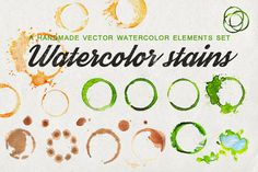 Set of watercolor stains (+vector) by Samui-Art on Creative Market