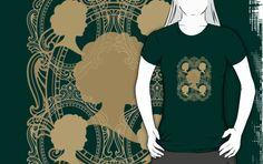 #GoldCameoLadies #GreenTshirt by #MoonDreamsMusic