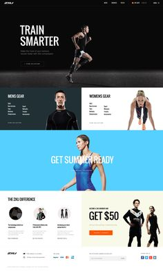 GYM / Traiting Site Design - 2xu GYM Landing Page New!