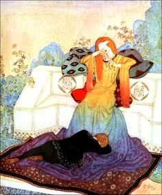 Art by Edmund Dulac (1900) from the book, DREAMER OF DREAMS. Source: http://www.gutenberg.org/ebooks/40950