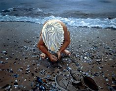 """'Beach Boy' oil on canvas 36"""" X 48"""" by Wildbank. Available in giclee on canvas or paper"""