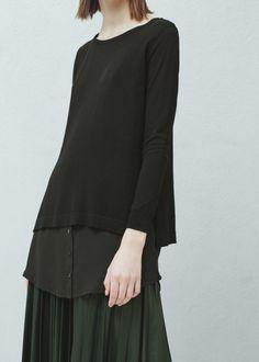 Dwuwarstwowy sweter -  Kobieta | OUTLET Polska