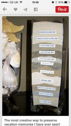 Absolutely love this, a collection of sand from places visited