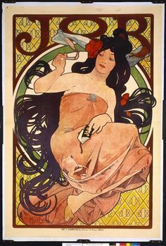 """Job : affiche publicitaire"" de Alfons Mucha. Paris, Bibliothèque nationale de France (BnF) - Photo (C) BnF, Dist. RMN-Grand Palais / image BnF"