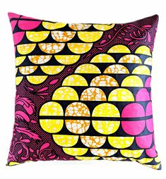 African Print Envelop Style Cushion Cover
