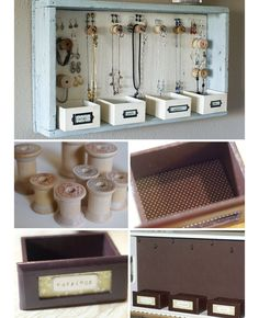 DIY Jewelry Organization Ideas | Click for Tutorial | DIY Storage Ideas for Small Bedrooms