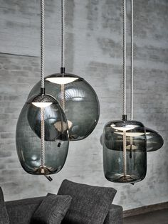Gathers the Best in Contemporary Design Under One Roof - Design Milk Kitchen Pendant Lighting, Kitchen Pendants, Glass Pendant Light, Pendant Light Fixtures, Glass Pendants, Pendant Lights, Pendant Lamps, Interior Lighting, Lighting Design