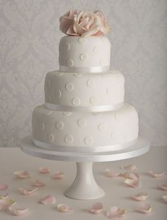 I love Polka dots - another simple white cake but like how the dots add interest