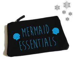 Mermaid Essentials Makeup Bag. Mermaid Bag. Mermaid Accessory Bag. Mermaid Makeup Bag. Jewelry Pouch. Cosmetic Bag. by SoPinkUK on Etsy