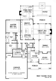 Check out the first floor plan of The Liam, house plan 1461. Now in progress! #wedesigndreams #dongardnerarchitects