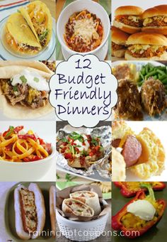 12 Budget Friendly Dinners!