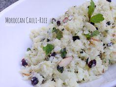 Paleo Moroccan Cauli-Rice on www.PopularPaleo.com   Jazz up basic cauliflower rice with dried currants, sliced almonds and fresh mint! #glutenfree #grainfree