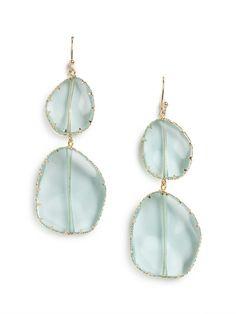 Aqua Luce Boho Drops// Love the simple shapes & of course, the color...