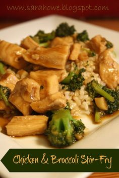 Sara Howe: Chicken and Broccoli Stir-Fry