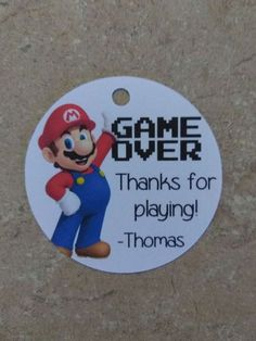 12 Personalized Custom Birthday Party Favor Tags. Super Mario, video game #Unbranded #BirthdayChild #Favors