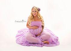 Inland Empire maternity photographer www.capturedbyerin.com maternity gown; Fancy Fabric & Props; purple maternity gown; dream lighting; maternity photographer