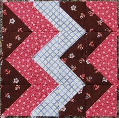 """Hospitals Block from the book """"The Civil War Love Letter Quilt."""