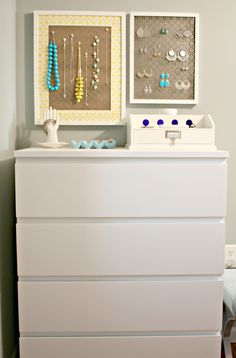 I love the dresser revamp but I'd really love to organize my jewlery better.