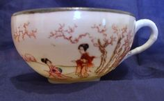 Pretty Hand Decorated Translucent Eggshell Japanese Tea Cup 20th Century Sold by The Zoomerman Collection