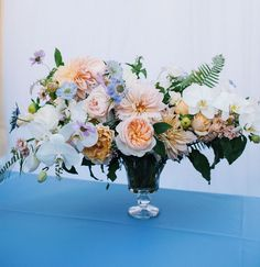 Watercolor-inspired floral centerpiece